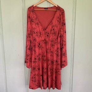 Torrid Floral Bell Sleeved Skater Dress 1X